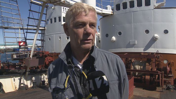 Ólafur Ólafsson, skipstjóri á Hval 9, í viðtali við Stöð 2 í dag.