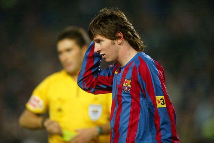Lionel Messi kom upp í gegnum La Masia knattspyrnuakademíuna og varð að mögulega besta knattspyrnumanni sögunnar. Hér sést hann á fyrstu árum sínum með aðalliði Barcelona.