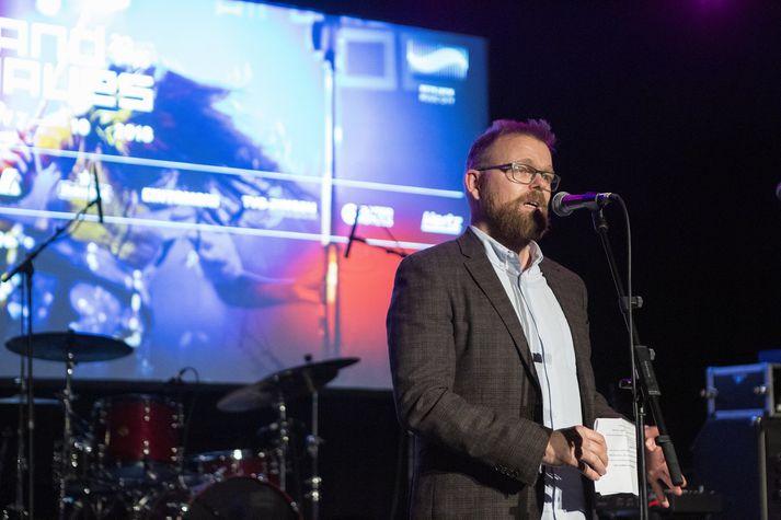Ísleifur Þórhallsson, framkvæmdastjóri Senu Live, á opnunarhátíð Iceland Airwaves í fyrra.