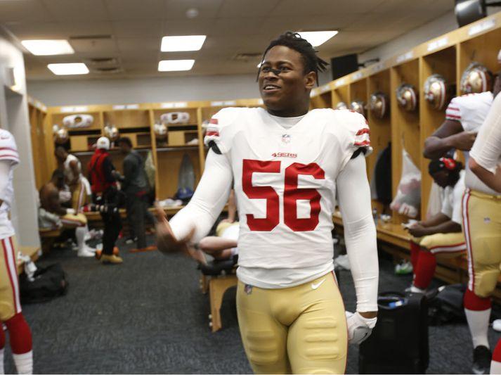 Foster í búningi 49ers.