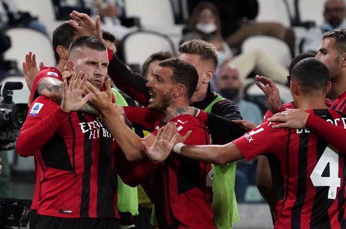 Ante Rebić jafnaði metin fyrir AC Milan.