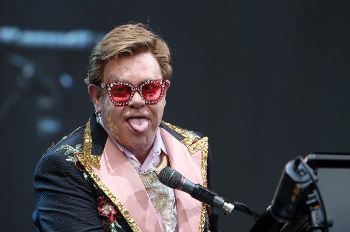 Elton John lagði sig allann fram í Auckland.
