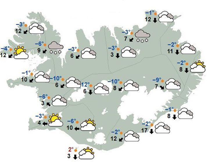 Veðurstofan hvetur fólk til þess að fylgjast vel með veðurspám og upplýsingum um færð.