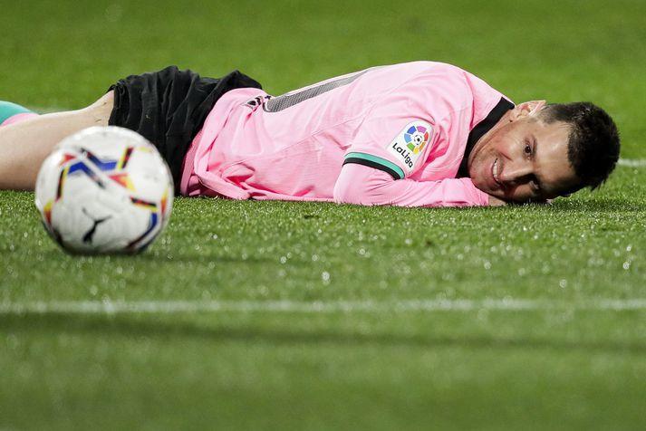 Lionel Messi hefur verið samningslaus frá mánaðarmótum.