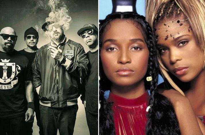 Cypress Hill var einu sinni ein vinsælasta rappsveit heims. TLC á eitt vinsælasta lag sögunnar, Waterfalls.