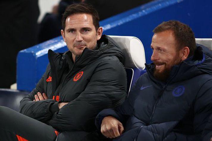 Frank Lampard og Morris á hliðarlínunni fyrr í vetur.