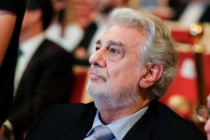 Placido Domingo er 78 ára gamall. Hér sést hann á hátíð í Madrid um miðjan júlímánuð.