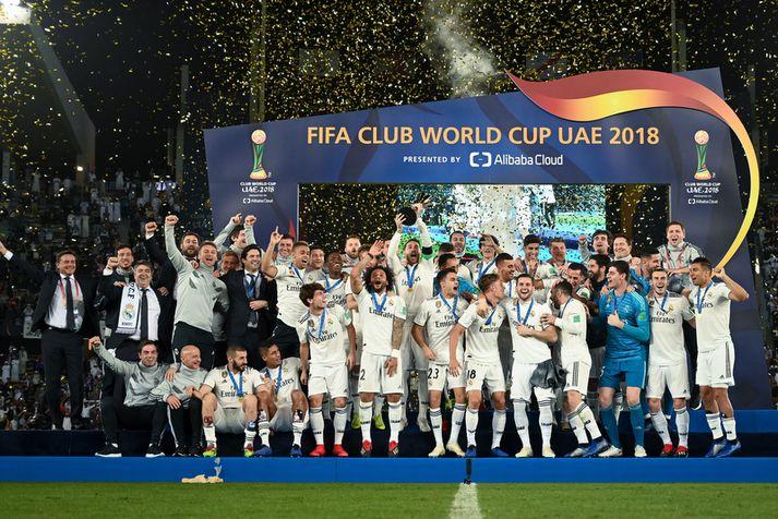 Real Madrid vann heimsmeistarakeppni félagsliða í desember síðastliðnum.