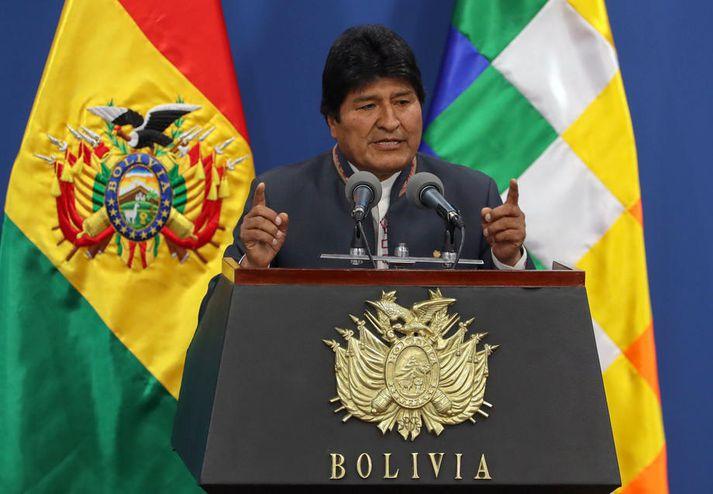 Evo Morales var fyrst kjörinn forseti árið 2006.