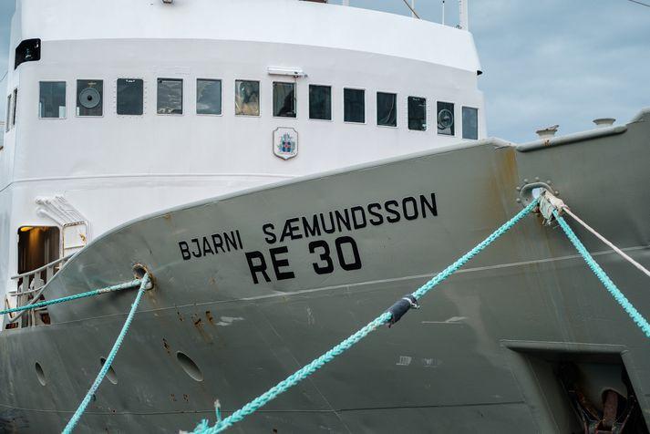 Bjarni Sæmundsson, rannsóknaskip Hafrannsóknstofnunar, við landfestar í Reykjavík. Hafró veitir ráðgjöf um úthlutun kvóta á grundvelli vísindalegs mats á fiskistofnum.