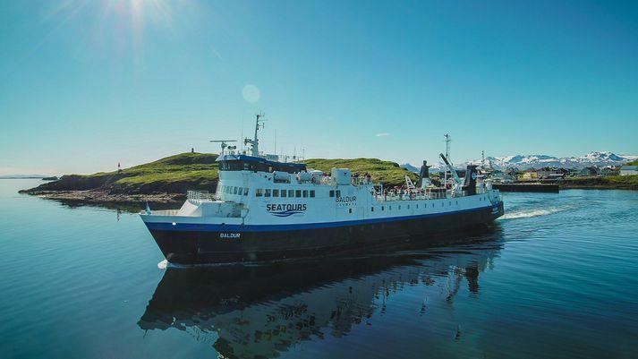 Breiðafjarðarferjan Baldur fer á milli Stykkishólms og Brjánslækjar með viðkomu í Flatey.