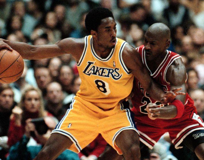Kobe Bryant dáði Michael Jordan og var ófeiminn að leita ráða hjá honum.