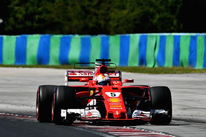 Vettel var fljótastur í dag.