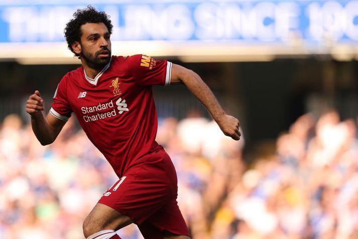 Mo Salah á fullri ferð.