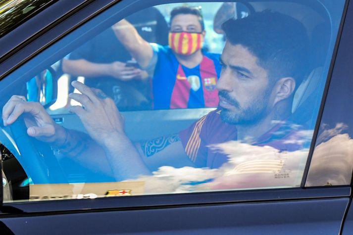 Luis Suárez hefur að öllum líkindum leikið sinn síðasta leik fyrir Barcelona. Hver næsti áfangastaður hans á ferlinum verður er enn óljóst.