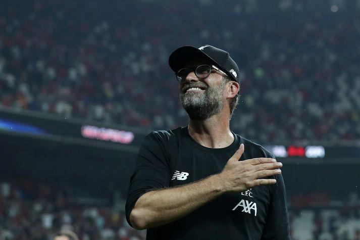 Klopp vann sinn annan titil sem knattspyrnustjóri Liverpool í kvöld.