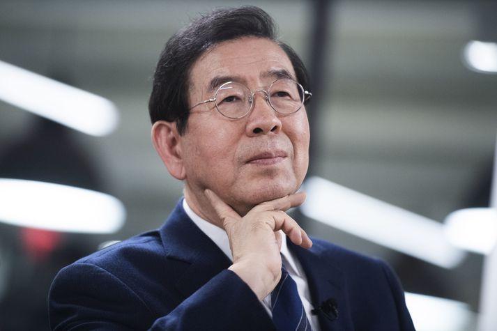 Park Won-soon borgarstjóri Seúl.