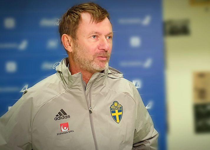 Peter Gerhardsson er mættur til Íslands með bronsliðið sitt.
