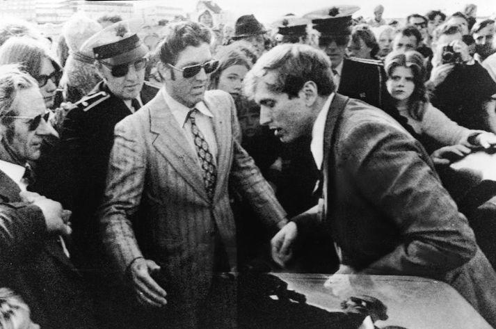 Bobby Fischer á Íslandi árið 1972.