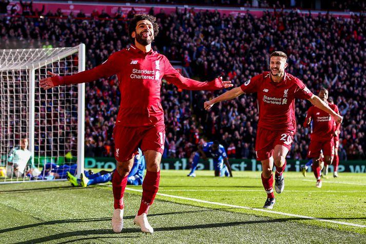 Mohamed Salah og félagar eru í harðri baráttu um titilinn