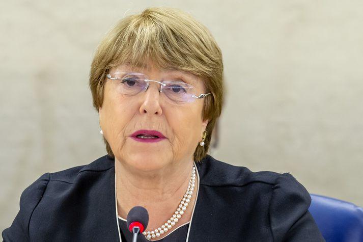 Michelle Bachelet, fyrrverandi forseti Síle, er mannréttindastjóri Sameinuðu þjóðanna.