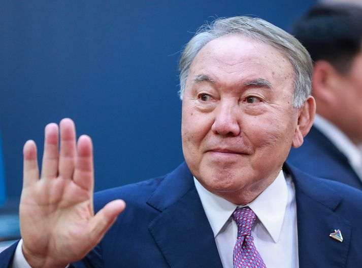 Nursultan Nazarbayev er 78 ára að aldri.