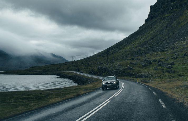 Dacia Duster er vinsæll bíll hjá bílaleigum á Íslandi.