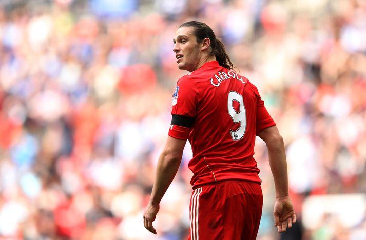 Carroll í búningi Liverpool.