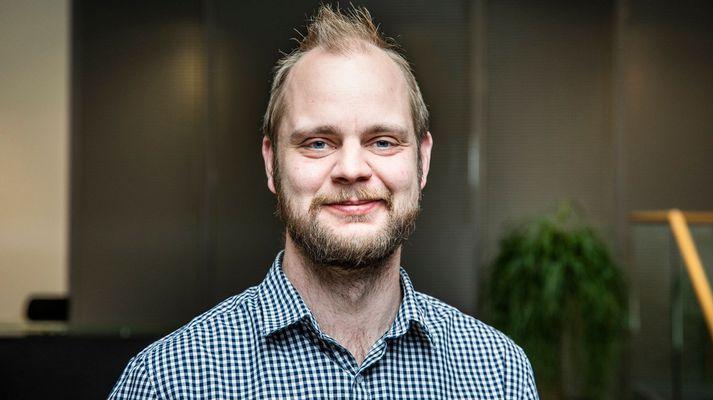Hinn hálf íslenski Mímir Kristjánsson er á leið inn á norska stórþingið fyrir Rauða- flokkinn.