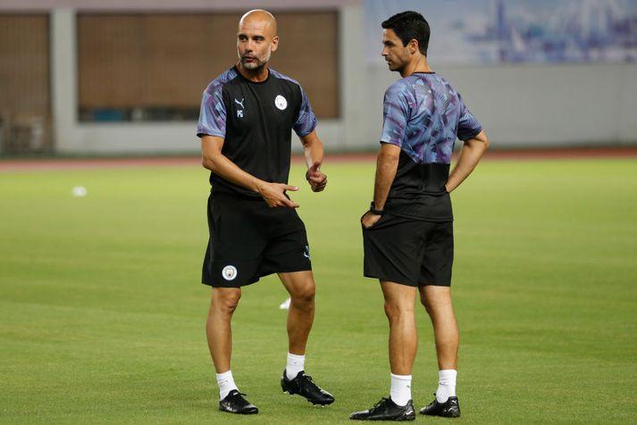 Guardiola og Arteta vinna vel saman hjá City