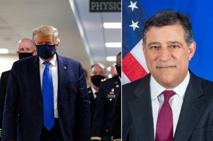 Jeffrey Ross Gunter, sendiherra Bandaríkjanna hér á landi, er ötull stuðningsmaður Donalds Trump Bandaríkjaforseta.