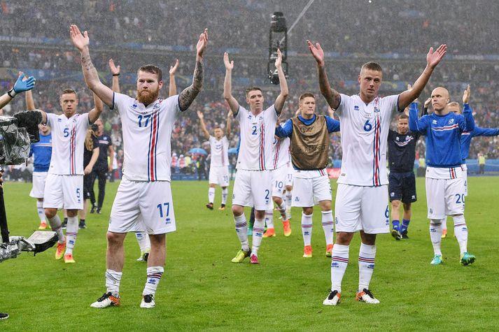 Aron Einar Gunnarsson, Birkir Már Sævarsson og Ragnar Sigurðsson eru allir komnir mjög nálægt því að spila hundrað landsleiki fyrir Ísland.