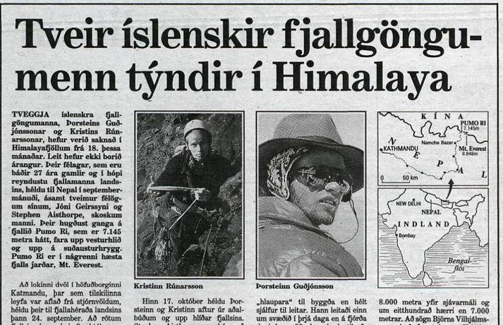 Forsíða Morgunblaðsins, 26. október 1988