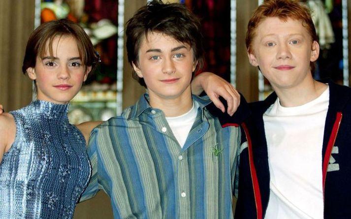 Emmu Watson ,Daniel Radcliffe og Rupert Grint á sínum tíma.