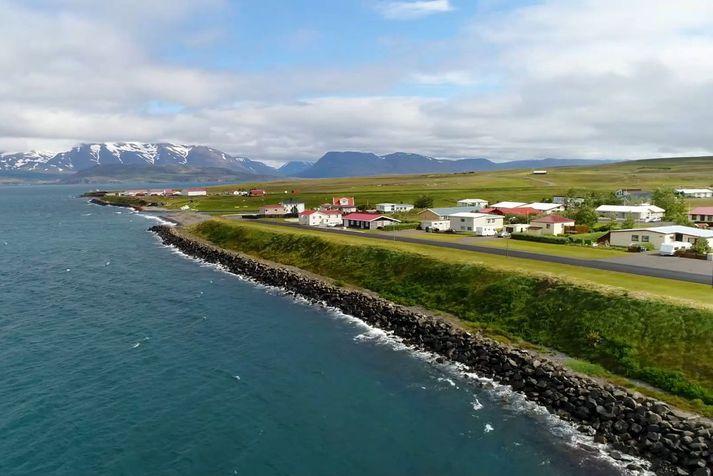 Séð yfir hluta byggðarinnar á Árskógssandi.