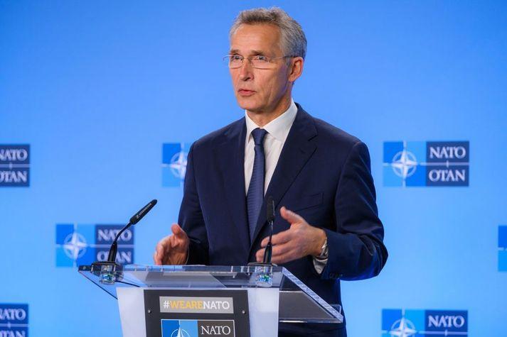 Jens Stoltenberg, framkvæmdastjóri NATO, segir mögulegt að kostnaðurinn við að kalla herliðið heim of snemma kunni að verða mjög mikill.