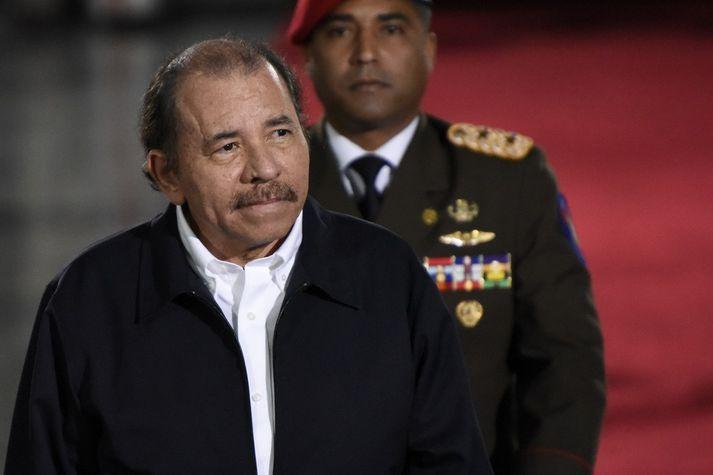 Daniel Ortega hefur gegnt embætti forseta Níkragva frá árinu 2007.