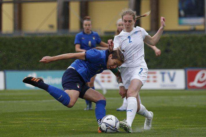 Blikinn Áslaug Munda Gunnlaugsdóttir byrjar gegn Írum.