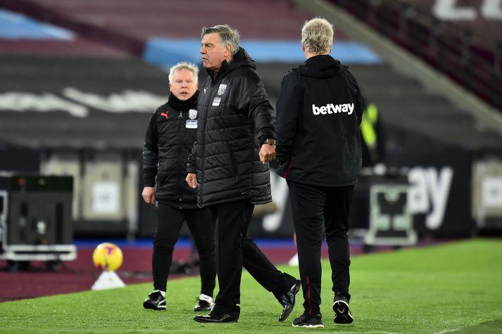 Sam Allardyce hafði engan tíma til að ræða við David Moyes eftir 2-1 sigur West Ham gegn WBA í kvöld.