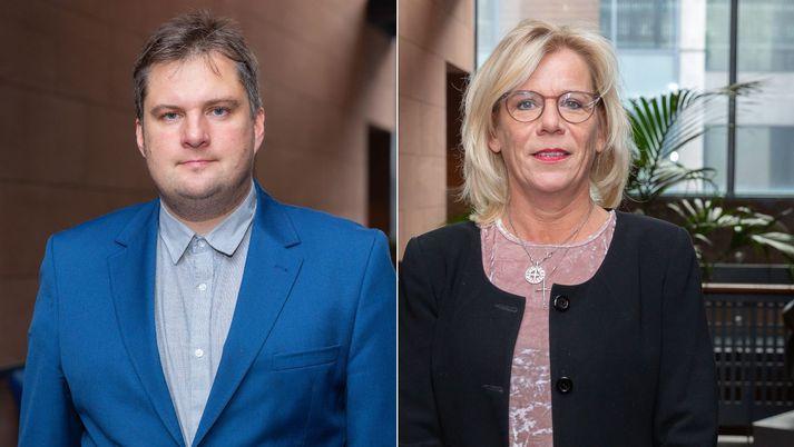 Pawel Bartoszek og Vigdís Hauksdóttir.