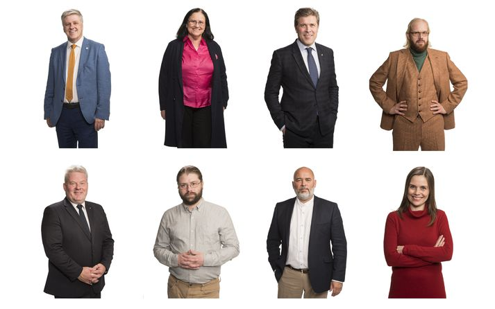 Benedikt, Inga, Bjarni, Óttarr, Sigurður, Helgi, Logi og Katrín eru klár í slaginn.