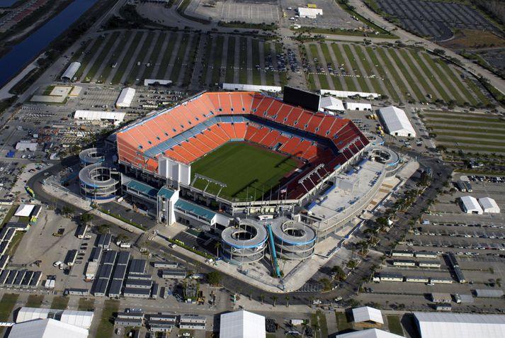 Brautin verður 5,41 km í kringum Hard Rock Stadium í Miami.