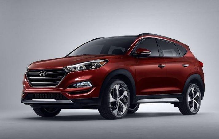 Hyundai Tucson verður til sýnis.