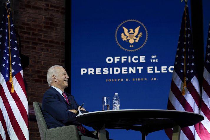 Joe Biden mun taka við embætti forseta þann 20. janúar.