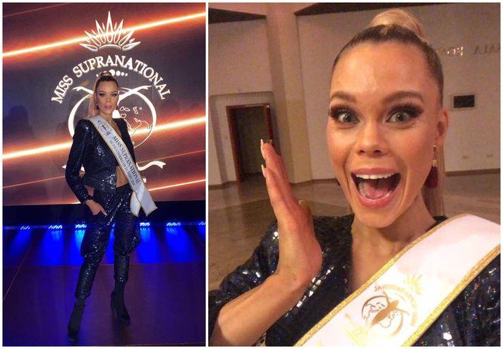 Hugrún Birta Egilsdóttir keppir nú í Miss Supranational sem fer fram í Póllandi.