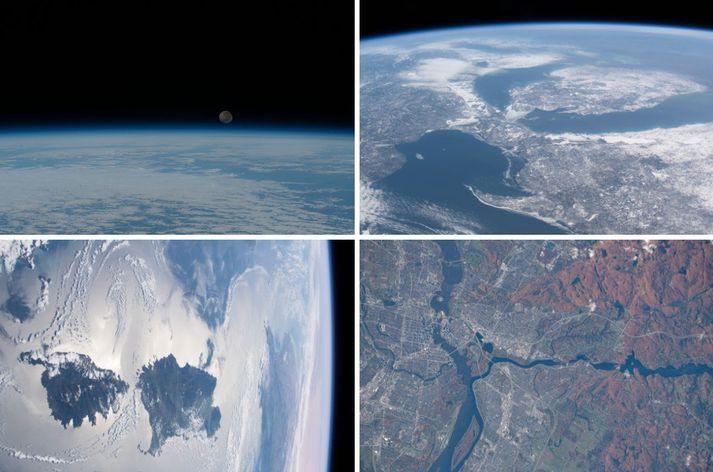 HGérr má sjá myndir af Tungrisi í geimnum, vötnunum við landamæri Bandaríkjanna og Kanada, Korsíku og haustliti í Ottawa í Kanada.