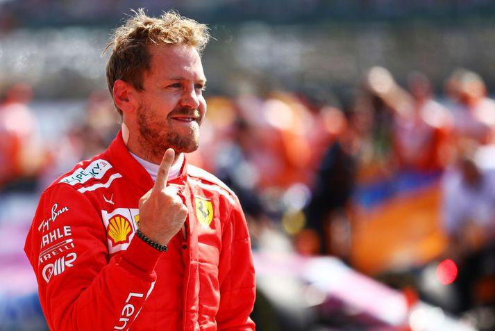 Sebastian Vettel stóð uppi sem sigurvegari.