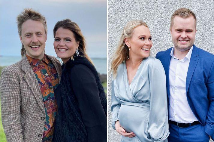 María Dögg Nelson og Ingibjörg Edda Snorradóttir ásamt kærustum sínum.