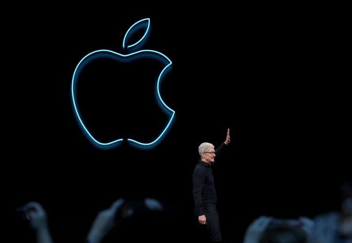 Tim Cook er forstjóri Apple.