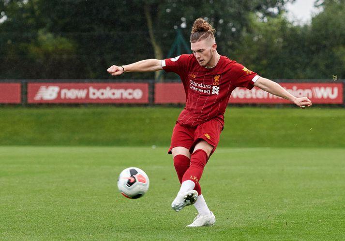 Harvey Elliott kom til Liverpool frá Fulham í sumar